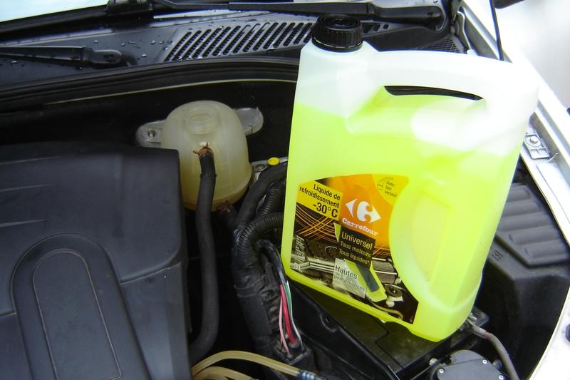 Remplacement liquide de refroidissement clio